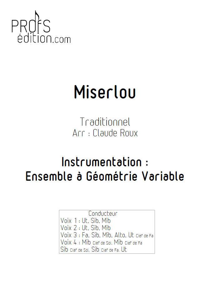 Misirlou (Pulp Fiction) - Ensemble à Géométrie Variable - TRADITIONNEL - front page