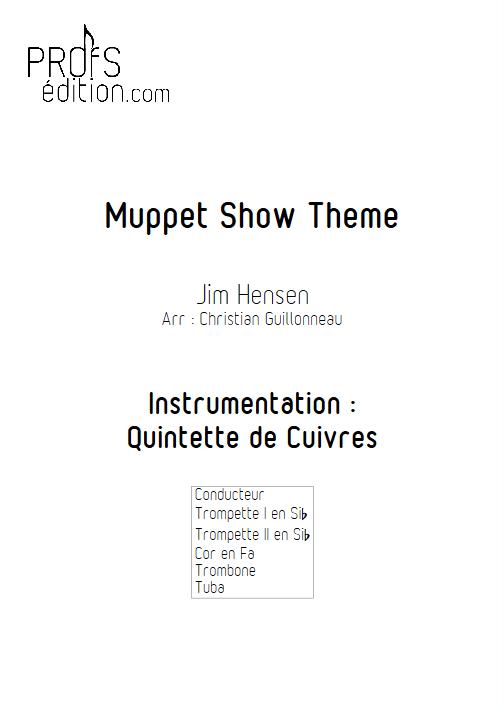The Muppet Show - Quintette de Cuivres - HENSON J. - front page
