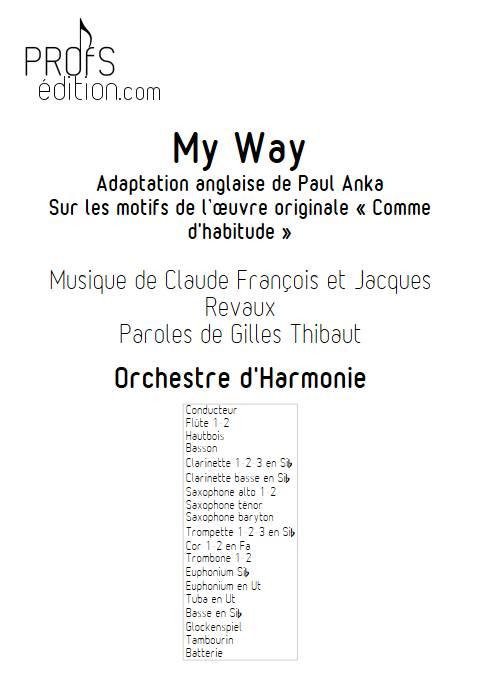 My way (Comme d'habitude) - Orchestre d'Harmonie - FRANÇOIS C. - front page