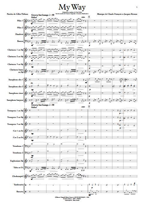 My way (Comme d'habitude) - Orchestre d'Harmonie - FRANÇOIS C. - app.scorescoreTitle