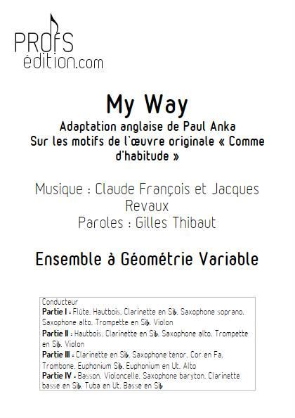 My way (Comme d'habitude) - Ensemble Variable - FRANÇOIS C. - front page