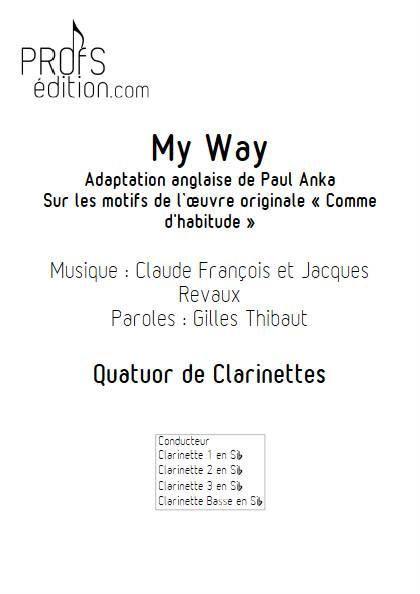 My Way - Quatuor de Clarinettes - FRANCOIS C. - front page