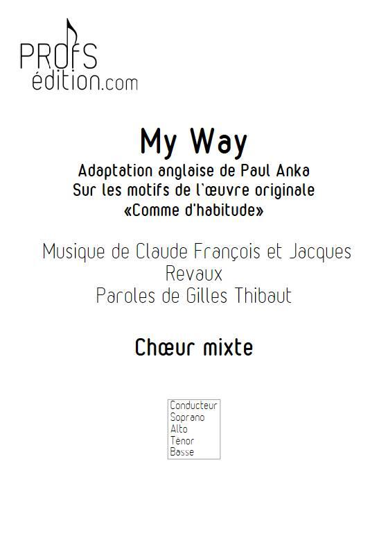 My Way - Chœur mixte - FRANCOIS C. - front page