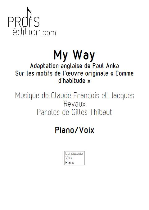 My Way - Piano Voix - FRANCOIS C. - front page