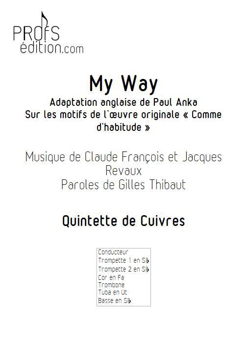 My way (Comme d'habitude) - Quintette de Cuivres - FRANÇOIS C. - front page