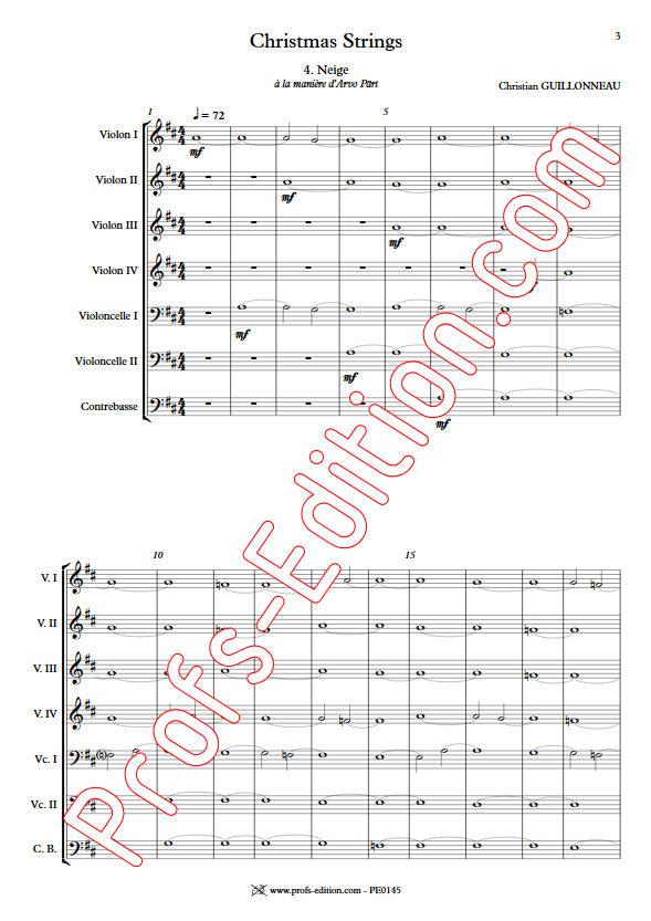 Neige - Orchestre Cordes - GUILLONNEAU C. - app.scorescoreTitle