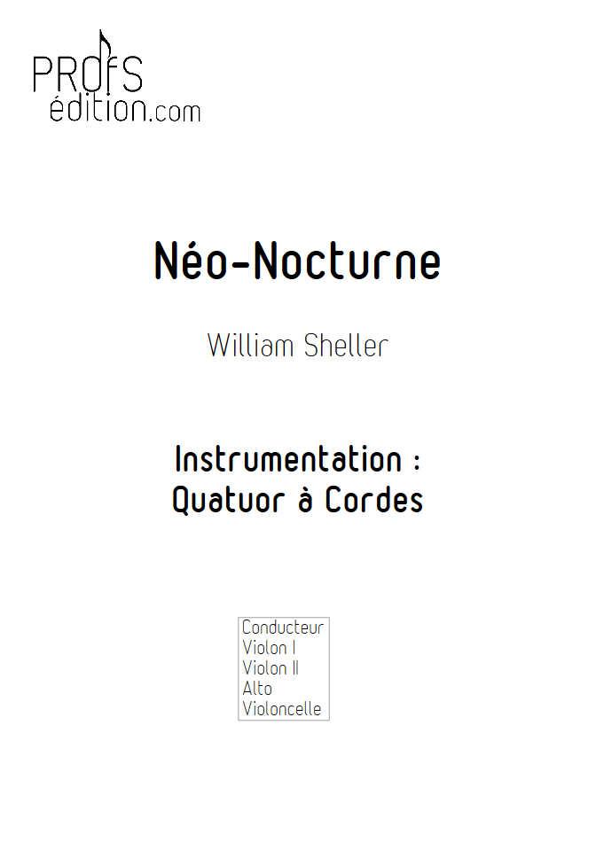 Néo Nocturne - Quatuor à Cordes - SHELLER W. - front page