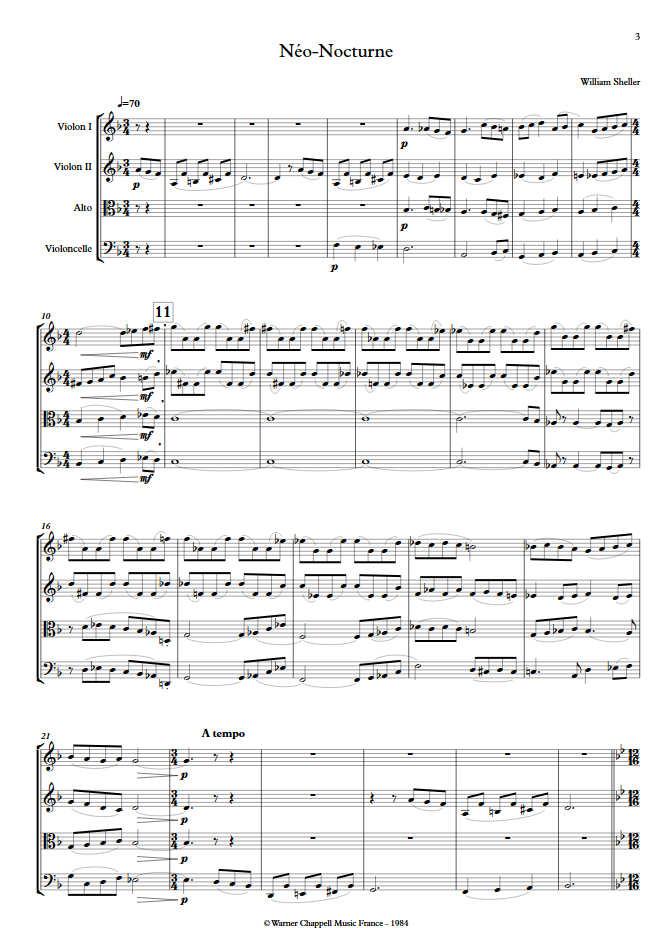 Néo Nocturne - Quatuor à Cordes - SHELLER W. - app.scorescoreTitle