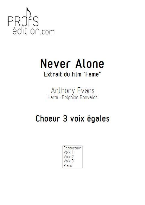 Never Alone - Chœur 3 voix égales - EVANS A. - front page