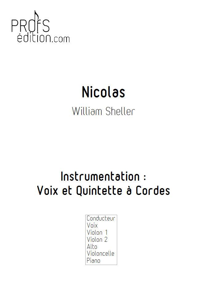 Nicolas - Chant et Quintette à Cordes - SHELLER W. - front page