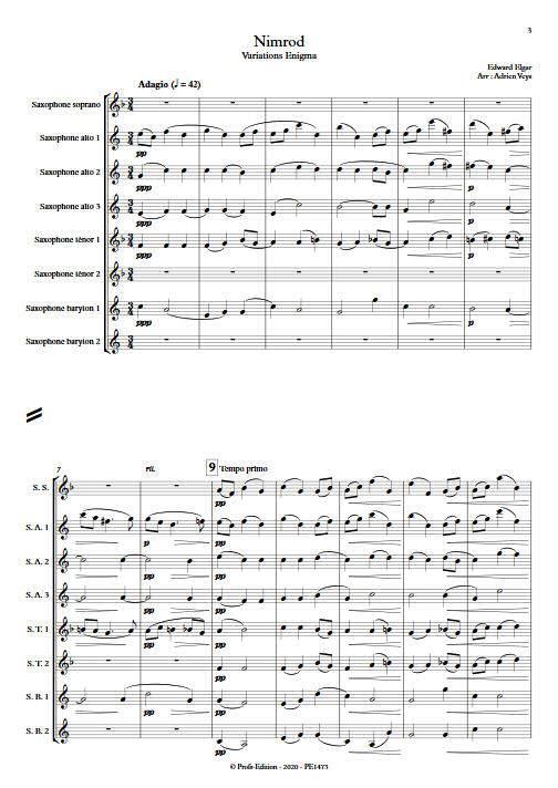 Nimrod - Ensemble de Saxophones - ELGARD E. - app.scorescoreTitle