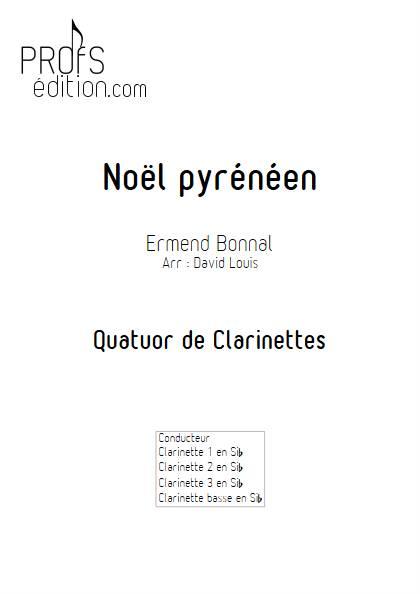 Noël Pyrénéen - Quatuor de Clarinettes - BONNAL E. - front page