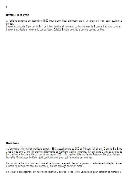 Noël Pyrénéen - Quatuor à Cordes - BONNAL E. - Educationnal sheet