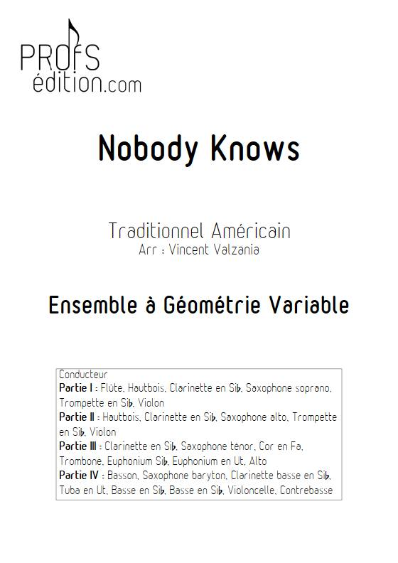 Nobody knows - Ensemble Variable - TRADITIONNEL AMERICAIN - front page