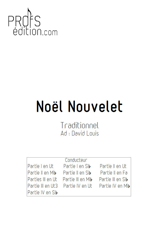 Noël nouvelet - Ensemble Géométrie Variable - TRADITIONNEL - front page