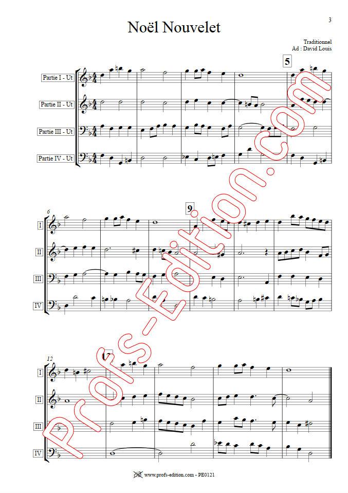 Noël nouvelet - Ensemble Géométrie Variable - TRADITIONNEL - app.scorescoreTitle