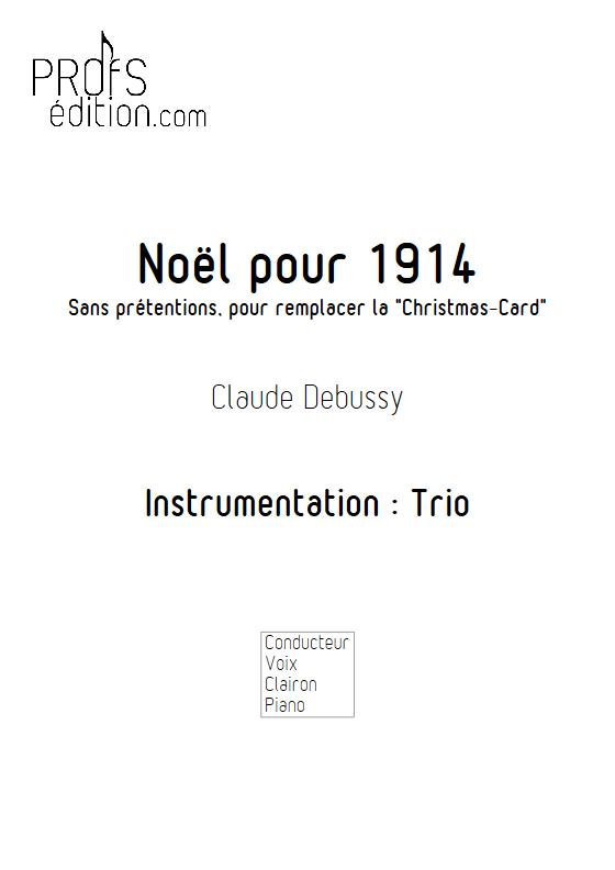 Noël pour 1914 - Trio - DEBUSSY C. - front page