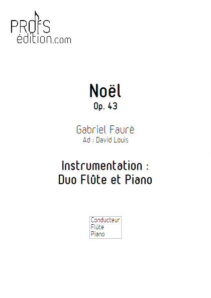 Noël - Duo Flûte & Piano - FAURE G. - front page