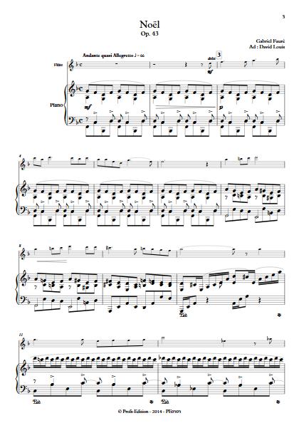 Noël - Duo Flûte & Piano - FAURE G. - app.scorescoreTitle
