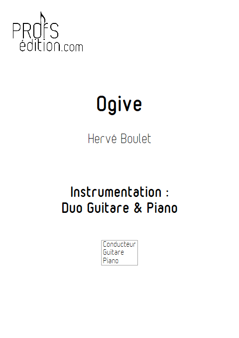 Ogive - Duo Guitare et Piano - BOULET H. - front page