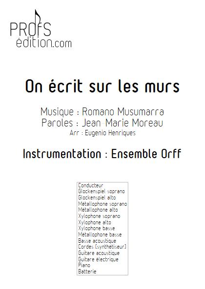 On écrit sur les murs - Ensemble Orff - MUSUMARRA R. - front page