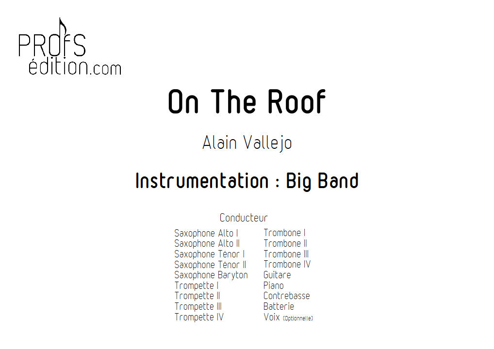 On The Roof - Big Band - VALLEJO A. - front page