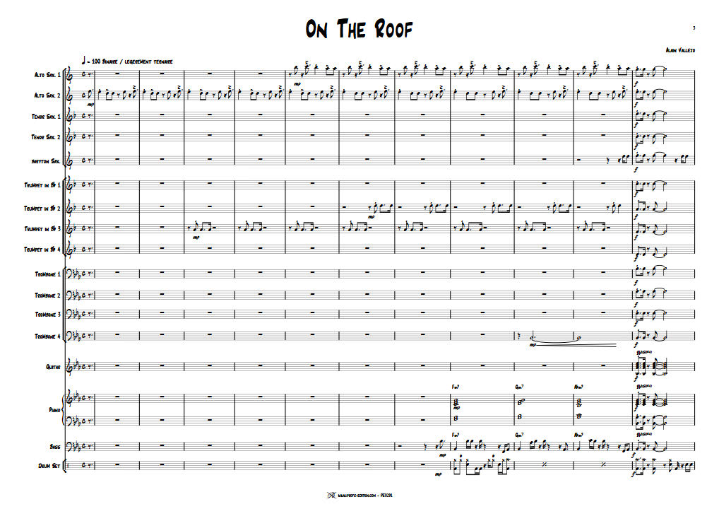 On The Roof - Big Band - VALLEJO A. - app.scorescoreTitle