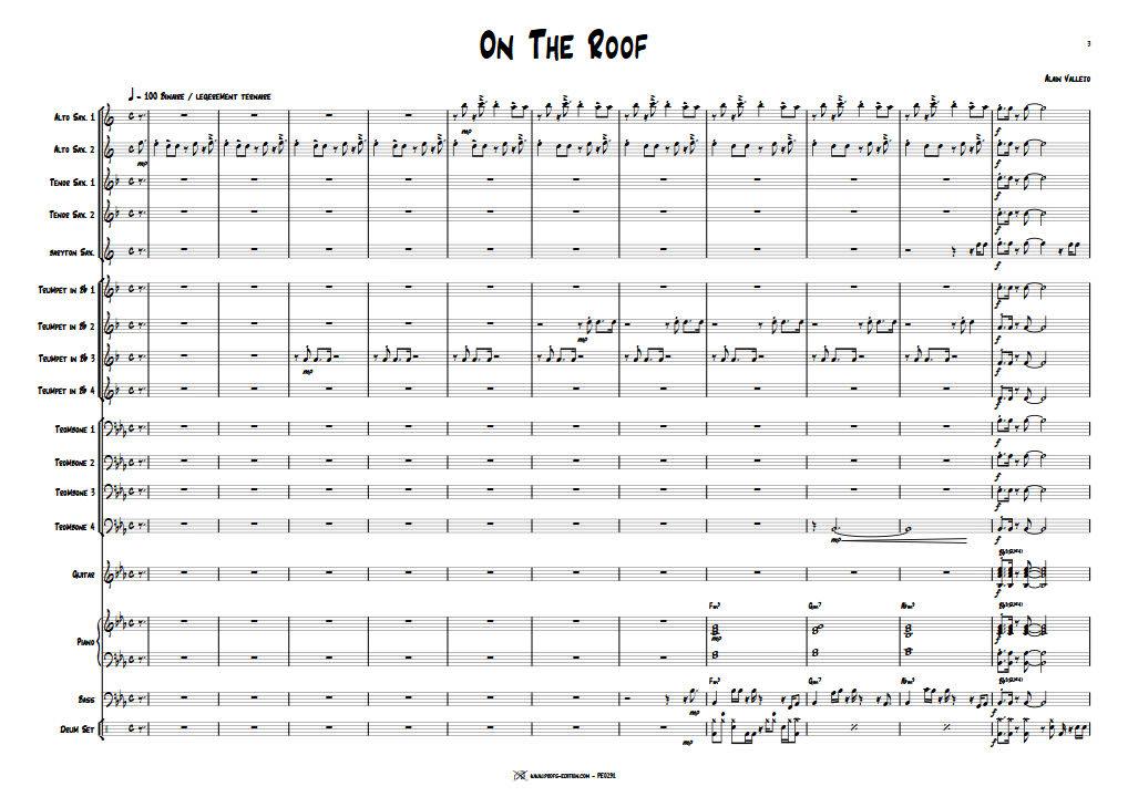 On The Roof - Big Band - VALLEJO A. - app.scorescoreTitle