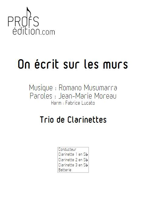On écrit sur les murs - Trio de Clarinettes - MUSUMARRA R. - front page