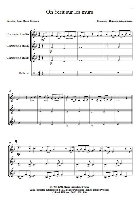 On écrit sur les murs - Trio de Clarinettes - MUSUMARRA R. - app.scorescoreTitle