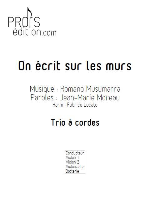 On écrit sur les murs - Trio à cordes - MUSUMARRA R. - front page