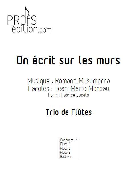 On écrit sur les murs - Trio de Flûtes - MUSUMARRA R. - front page