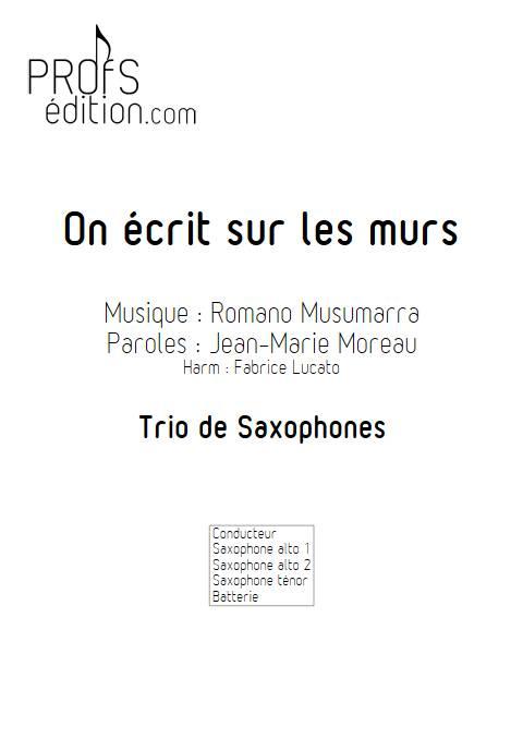 On écrit sur les murs - Trio de Saxophones - MUSUMARRA R. - front page