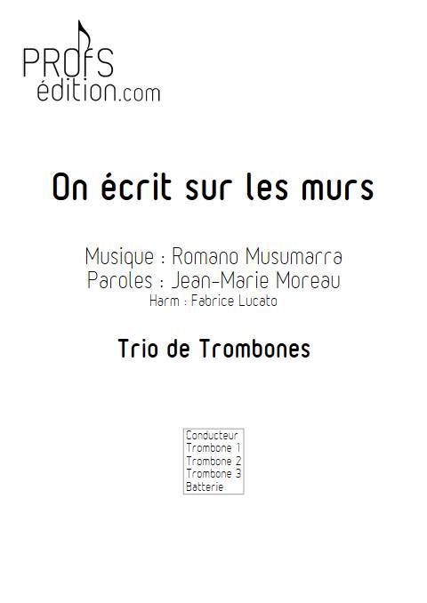On écrit sur les murs - Trio de Trombone - MUSUMARRA R. - front page