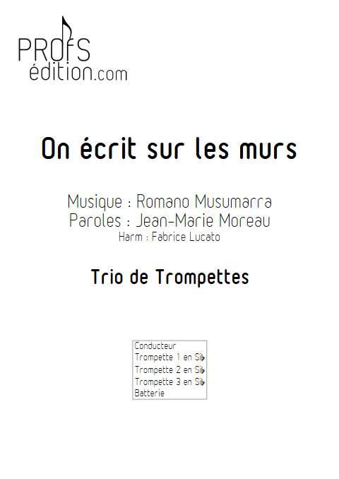 On écrit sur les murs - Trio de Trompette - MUSUMARRA R. - front page