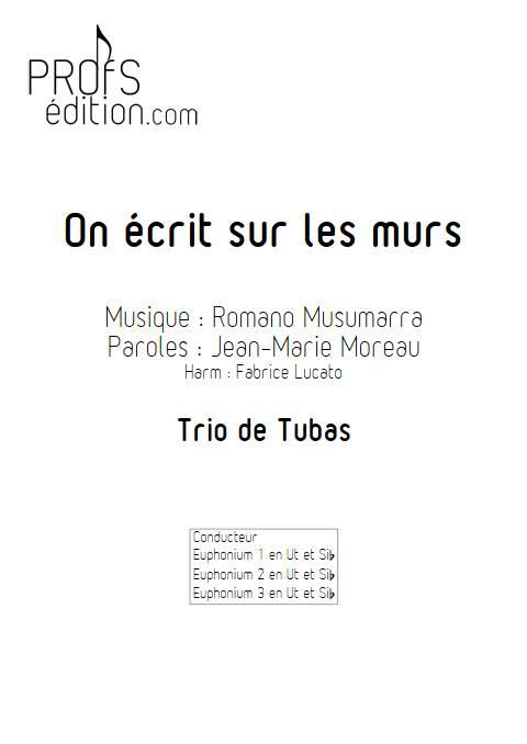 On écrit sur les murs - Trio de Tubas - MUSUMARRA R. - front page
