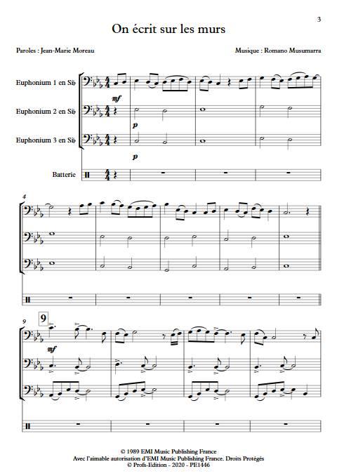 On écrit sur les murs - Trio de Tubas - MUSUMARRA R. - app.scorescoreTitle