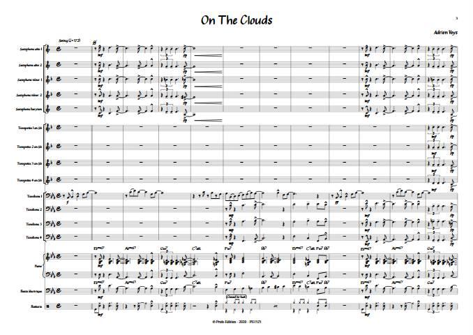 On the clouds - Big Band - VEYS A. - app.scorescoreTitle