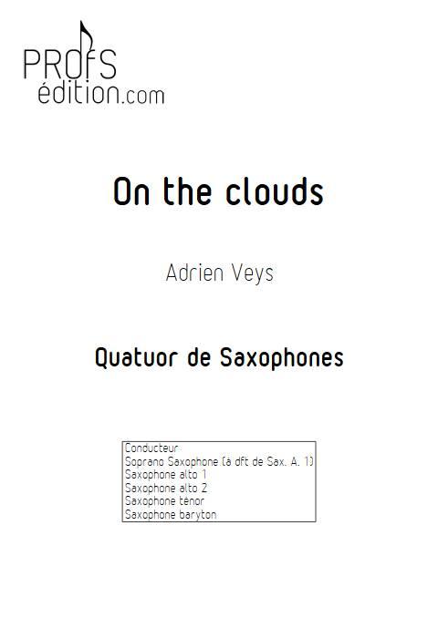 On the clouds - Quatuor de Saxophones - VEYS A. - front page