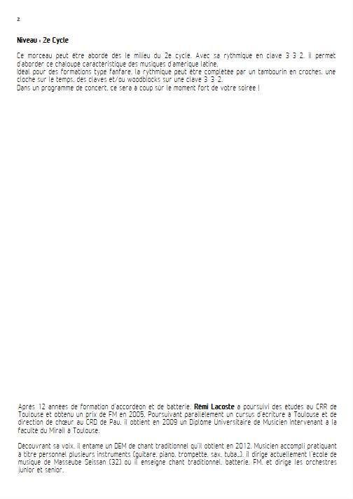 Outro lugar - Ensemble Variable - WONDER S. - Educationnal sheet