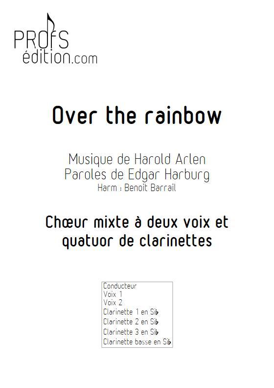 Over the rainbow - Quatuor de Clarinettes et Choeur - ARLEN H. - front page