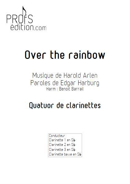 Over the rainbow - Quatuor de Clarinettes - ARLEN H. - front page