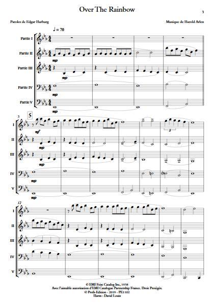 Over the rainbow - Ensemble Variable - ARLEN H. - app.scorescoreTitle
