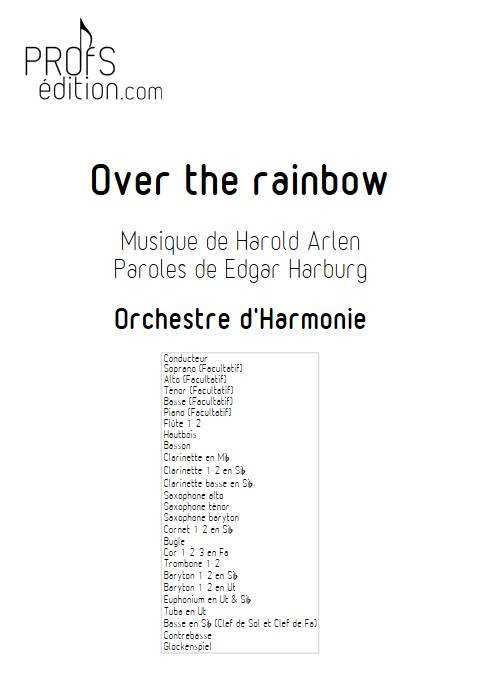 Over the rainbow - Orchestre d'Harmonie - ARLEN H. - front page