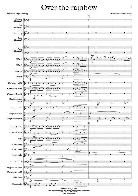 Over the rainbow - Orchestre d'Harmonie - ARLEN H. - app.scorescoreTitle