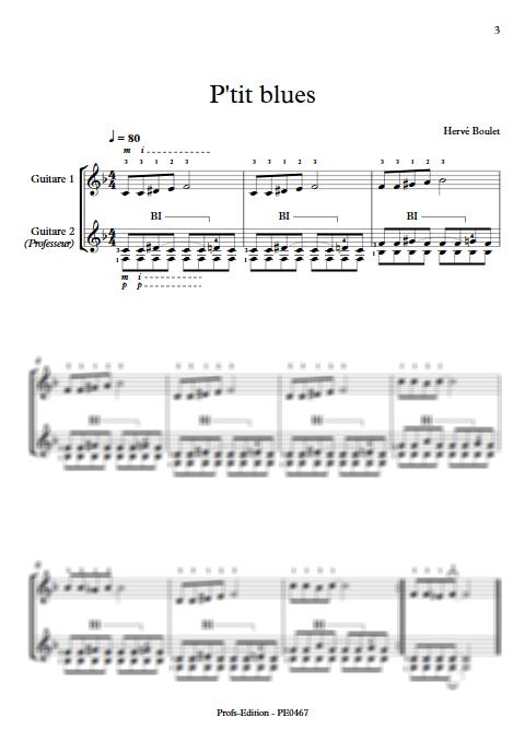 P'tit Blues - Duo de Guitares - BOULET H. - app.scorescoreTitle