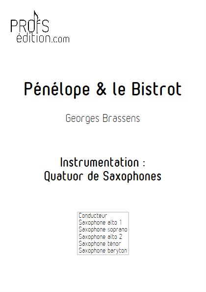 Pénélope & Le Bistrot - Quatuor de Saxophones - BRASSENS G. - front page