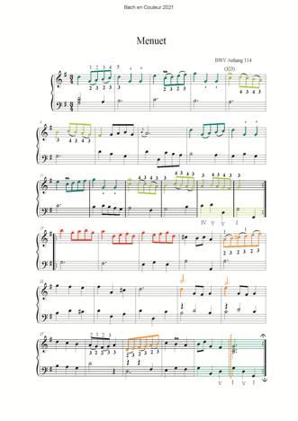 Bach en Couleurs (6 petites pièces) - Analyse Musicale - CHARLIER C. - app.scorescoreTitle