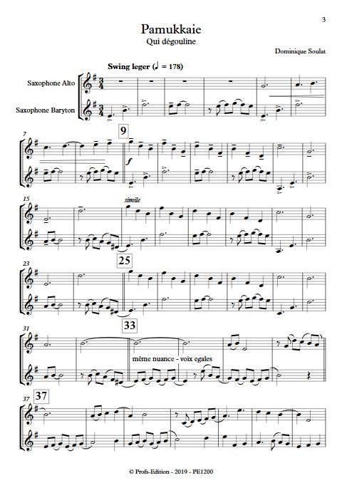 Pamukkale - Duo de Saxophones - SOULAT D. - app.scorescoreTitle