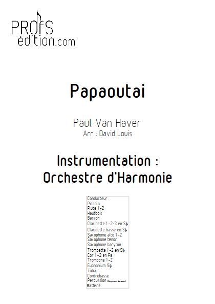 Papaoutai - Orchestre d'Harmonie - STROMAE - front page